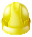 Yellow hard hat safety helmet illustration of a like those worn by construction workers Stock Photo