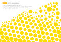 Yellow hexagon pattern concept design abstract technology background with copy space, vector