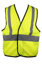 Yellow hi viz vest product picture for construction workwear safety clothing Stock Image