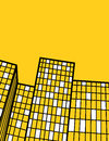 Yellow high buildings flyer design Royalty Free Stock Photo