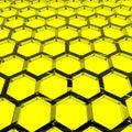 Yellow Honeycomb Stock Photo