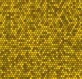 Yellow honeycomb vector background hexagon seamless pattern Royalty Free Stock Images