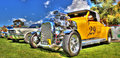 Yellow hot rod Royalty Free Stock Photo