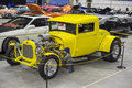 Yellow hot rod Royalty Free Stock Photo