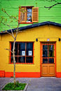 Yellow house in buenos aires Royalty Free Stock Photo