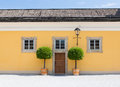 Yellow House Front Royalty Free Stock Photo