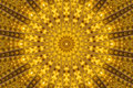 Yellow kaleidoscope Royalty Free Stock Photo