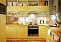 Yellow kitchen Royalty Free Stock Photo