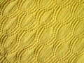 Yellow knitted abstract Royalty Free Stock Photos