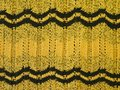 Yellow knitting texture Royalty Free Stock Images