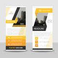 Yellow label Business Roll Up Banner flat design template ,Abstract Geometric banner template Vector illustration set, Royalty Free Stock Photo