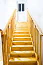 Yellow ladder Royalty Free Stock Photo
