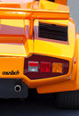 Yellow Lamborghini Countach - Exotic Car Royalty Free Stock Photo