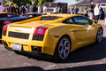 Yellow lamborghini on exhibition parking at an annual event supe los angeles california usa abril supercar sunday day abril in Royalty Free Stock Photography