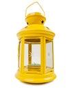 Yellow lantern isolated on white background Stock Photo