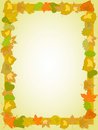 Yellow leaf rectangle frame Stock Photo