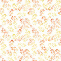 Yellow leaves. Watercolor autumn seamless pattern, cute design Royalty Free Stock Photo