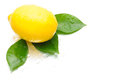 Yellow Lemon, fruit, object, green leaf, drop