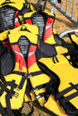 Yellow Life Jacket Stock Photos