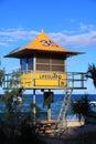 Yellow lifeguard tower Royalty Free Stock Photo