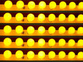 Yellow light bulbs Stock Photography
