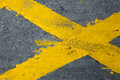 Yellow Lines Stock Photography