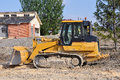 Yellow loader excavator on the construction place Royalty Free Stock Images
