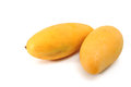 Yellow mango isolated on white Royalty Free Stock Photo