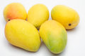 Yellow Mangos Stock Photo