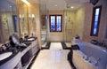Yellow marble bathroom Royalty Free Stock Photo
