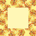 Yellow marigold chrysanthemum petunia calendula rose flower background frame in watercolor drawing. Royalty Free Stock Photo
