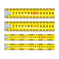 Yellow Measure Tape Vector. Measure Tool Equipment In Centimeters. Several Variants, Proportional Scaled.