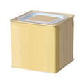 Yellow metal box isolated on white Stock Images
