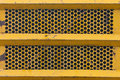 Yellow Metal Grill Texture
