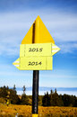 Yellow metal Road sign board Royalty Free Stock Photo