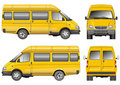 Yellow mini bus Stock Photography
