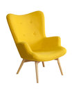 Yellow modern chair Royalty Free Stock Photo