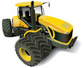 Yellow Modern Tractor Royalty Free Stock Photos