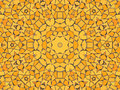 Yellow mosaic Stock Photography