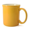 Yellow mug clipping path Royalty Free Stock Images
