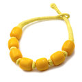 Yellow necklace Stock Image