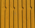 Yellow new wooden house wall background and texture Royalty Free Stock Photo