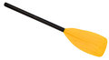 Yellow oar (paddle) Stock Photo