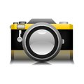 Yellow old camera photo illustration in image Stock Photos