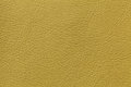 Yellow olive leather texture background with pattern, closeup Royalty Free Stock Photo