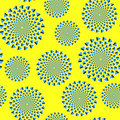 Yellow optical illusion Stock Image