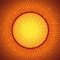Yellow orange abstract binary background glass circle on conceptual Stock Photo