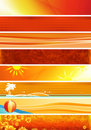 Yellow orange banners Royalty Free Stock Image