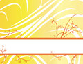 Yellow orange floral banner ba Royalty Free Stock Photo