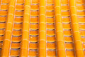 Yellow orange glazed terracotta  roof tiles of a Chinese temple Royalty Free Stock Photo